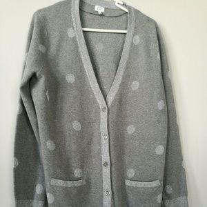 Crown and Ivy Silver Glitter Cardigan Polka Dot XL